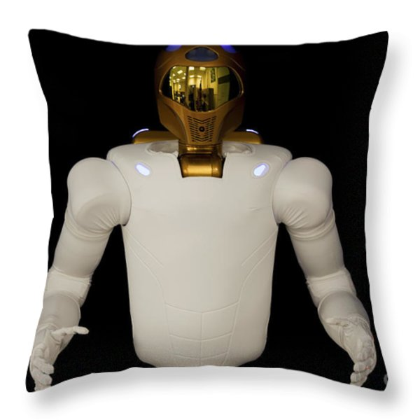 Robonaut 2, A Dexterous, Humanoid Throw Pillow by Stocktrek Images