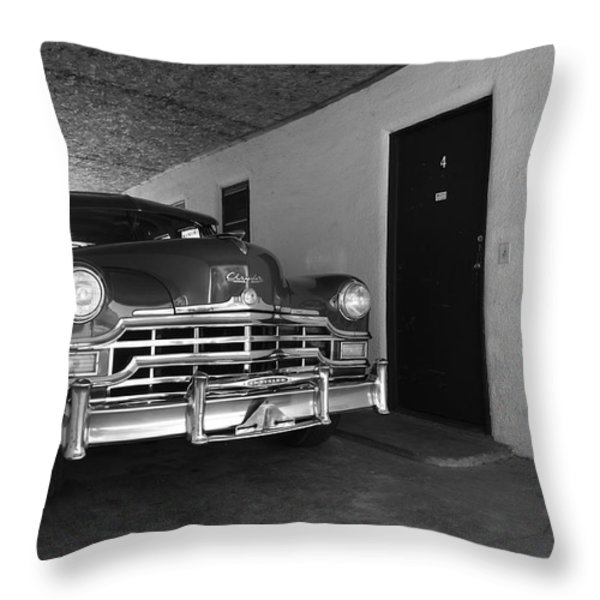 Route 66 Classic Car Throw Pillow by Frank Romeo