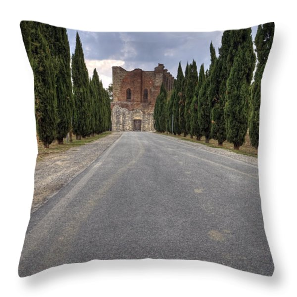 San Galgano Throw Pillow by Joana Kruse