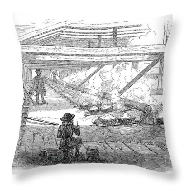 Slave Labor, 1857 Throw Pillow by Granger