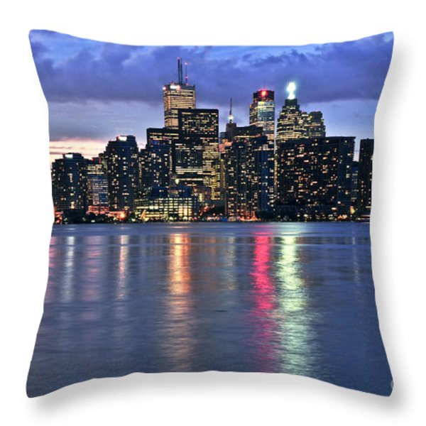 Toronto Skyline Throw Pillow by Elena Elisseeva