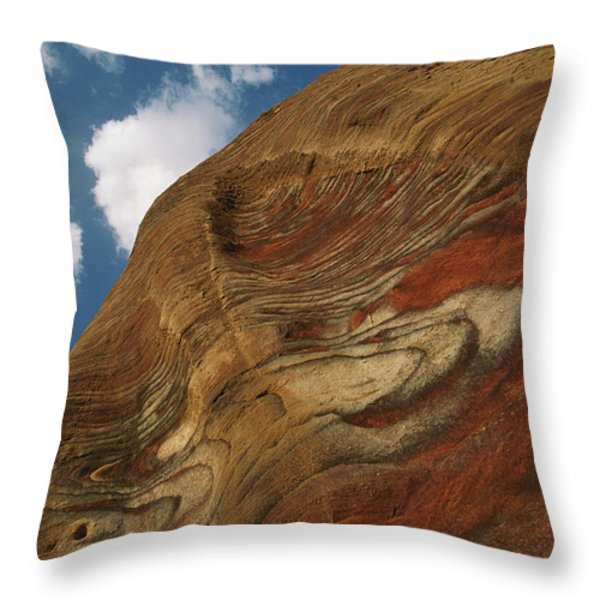 Waves Of Color, Ranging From A Pale Throw Pillow by Annie Griffiths