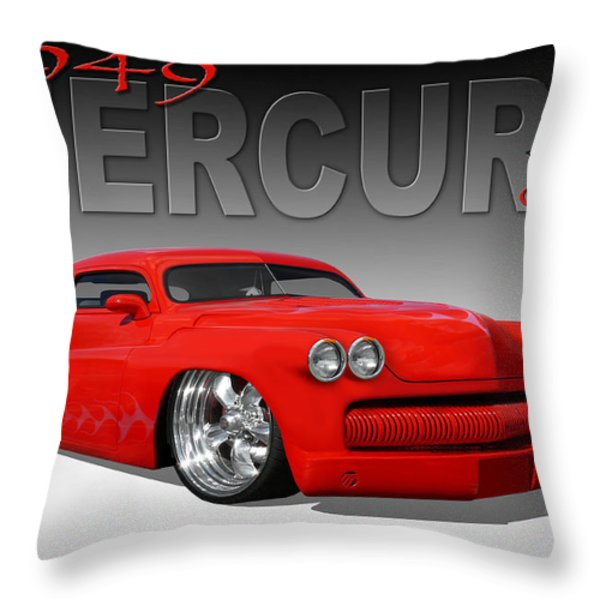 49 Mercury Coupe Throw Pillow by Mike McGlothlen