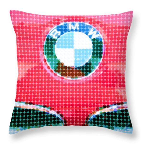 B M W Throw Pillow by Susan Carella