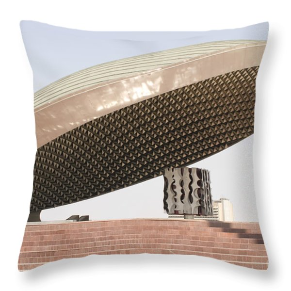 Baghdad, Iraq - A Great Dome Sits At 12 Throw Pillow by Terry Moore