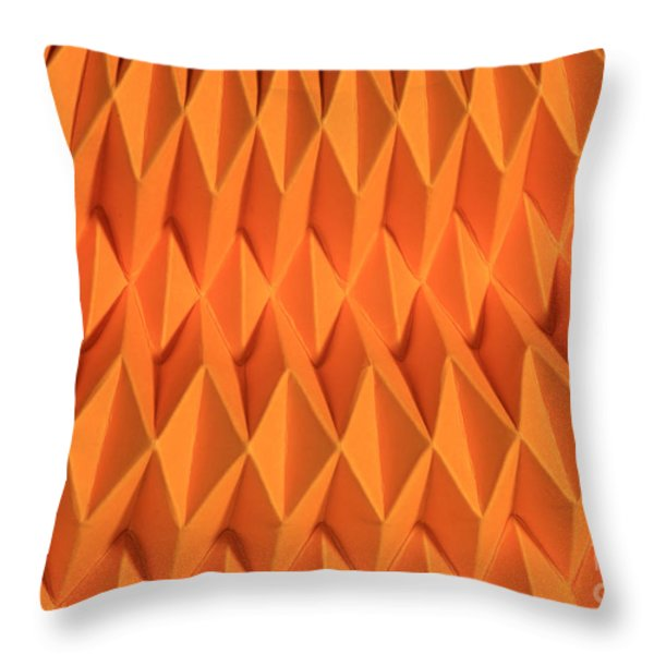 Mathematical Origami Throw Pillow by Ted Kinsman