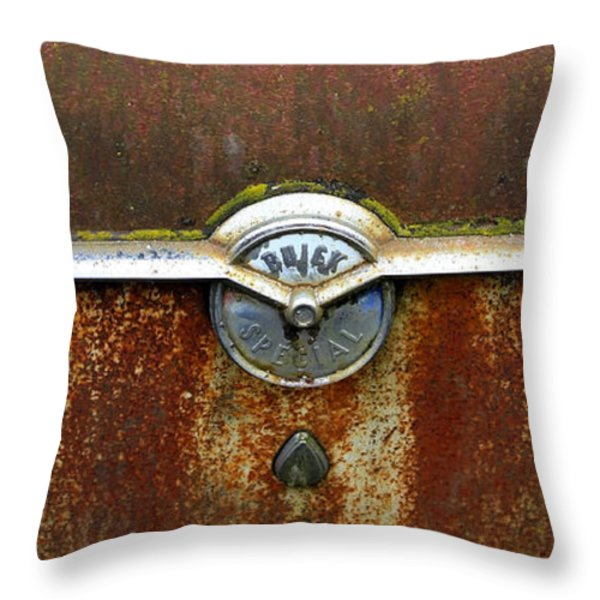 54 Buick Emblem Throw Pillow by Steve McKinzie
