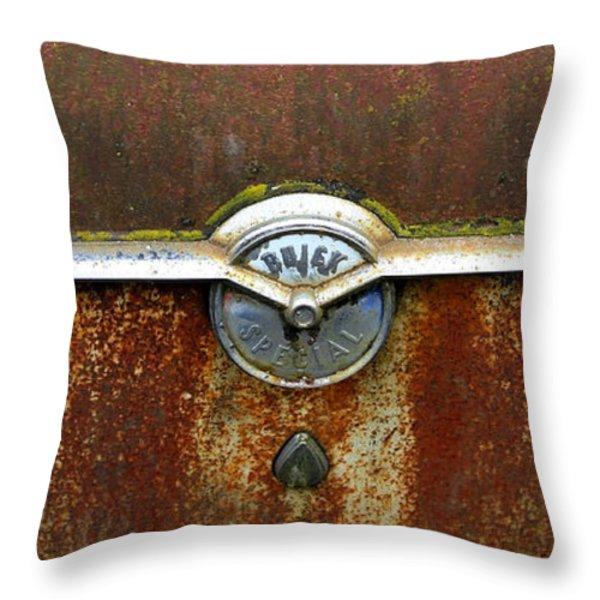 54 Buick Emblem Throw Pillow by Steve McKinzie