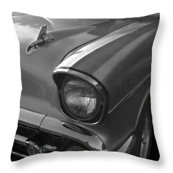 '57 Chevy Bel Air Throw Pillow by Debra and Dave Vanderlaan