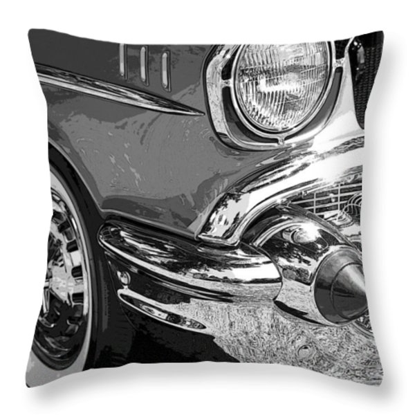 57 Chevy Throw Pillow by Steve McKinzie