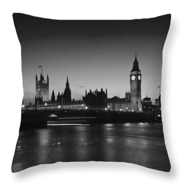 London  Skyline Big Ben Throw Pillow by David French