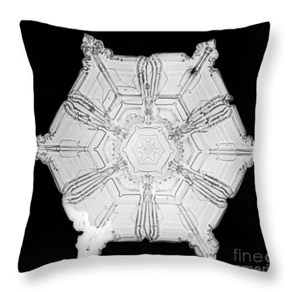 Snowflake Throw Pillow by Science Source