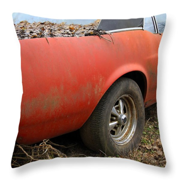 68 Stang Throw Pillow by Steve McKinzie