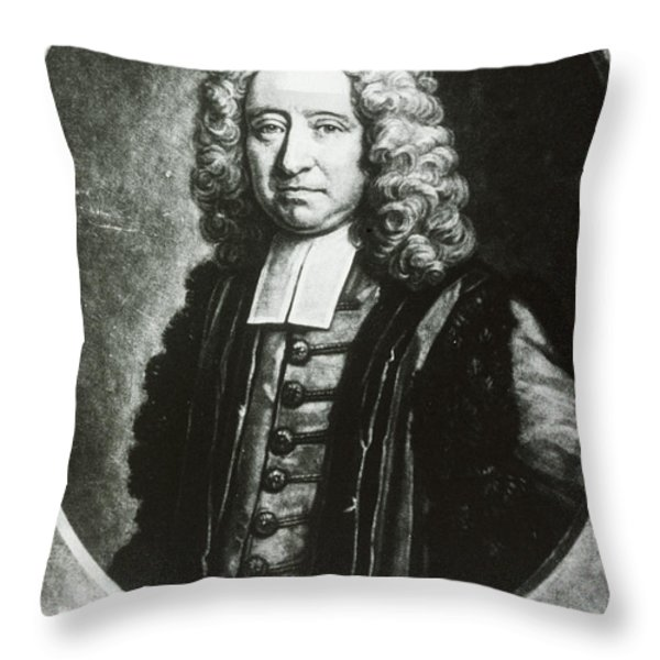 Edmond Halley, English Polymath Throw Pillow by Science Source