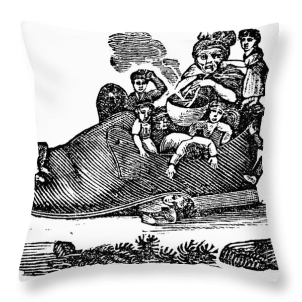 Mother Goose, 1833 Throw Pillow by Granger