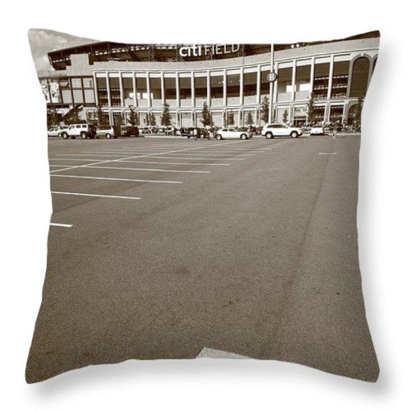 Citi Field - New York Mets Throw Pillow by Frank Romeo