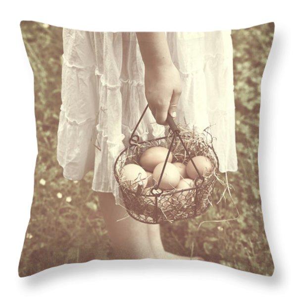 Eggs Throw Pillow by Joana Kruse