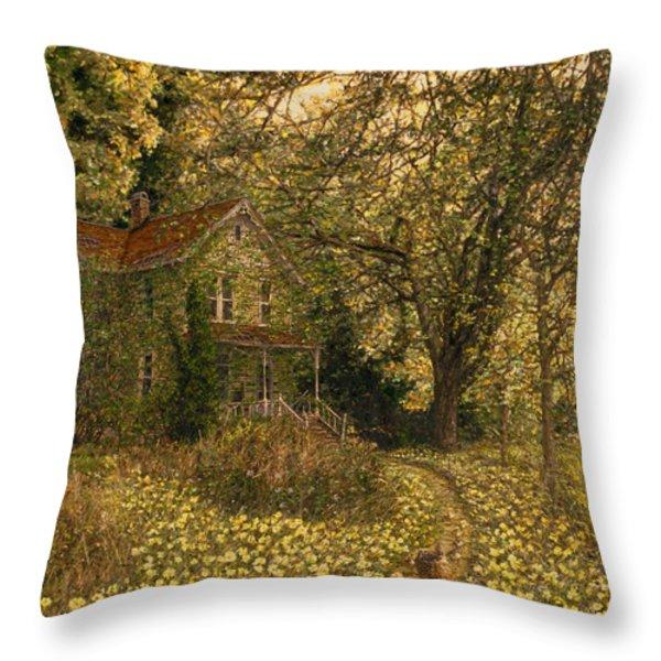Primrose Path Throw Pillow by Doug Kreuger