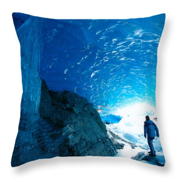 Alaska, Juneau Throw Pillow by John Hyde - Printscapes