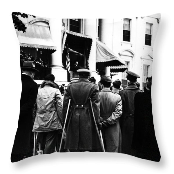Franklin D. Roosevelt Throw Pillow by Granger