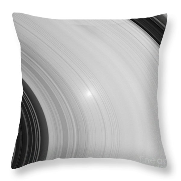 Saturns Rings Throw Pillow by NASA / Science Source