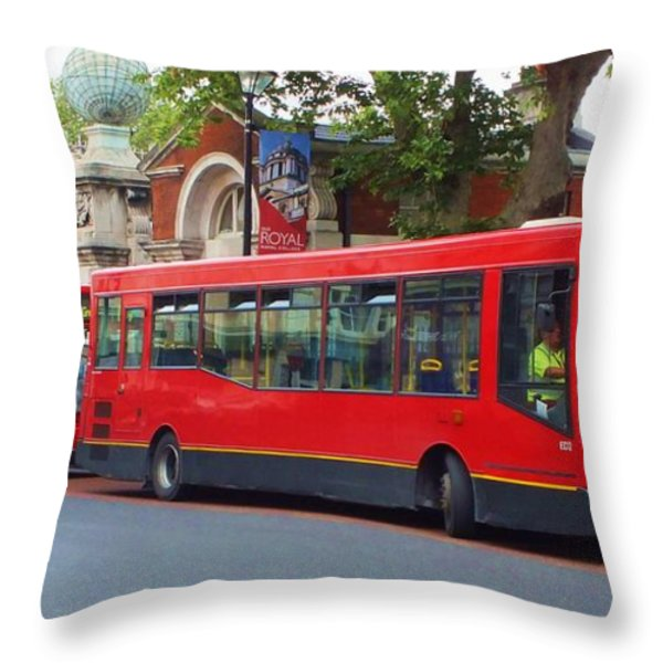 A Bevy of Buses Throw Pillow by Anna Villarreal Garbis