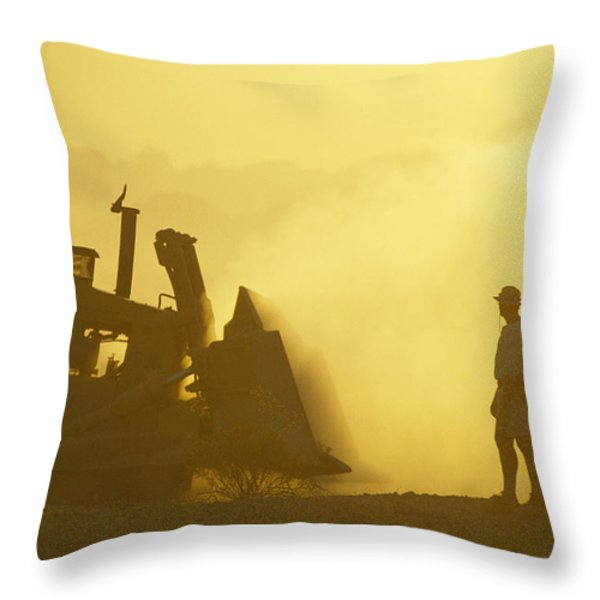 A Biologist Watches For Desert Throw Pillow by Joel Sartore