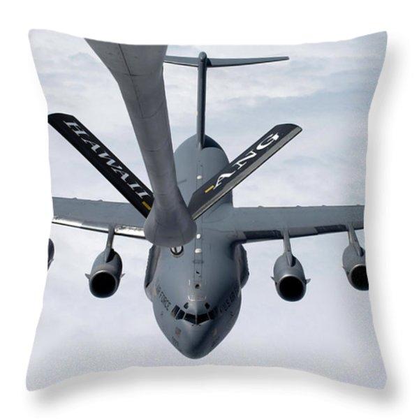 A C-17 Globemaster IIi Prepares Throw Pillow by Stocktrek Images