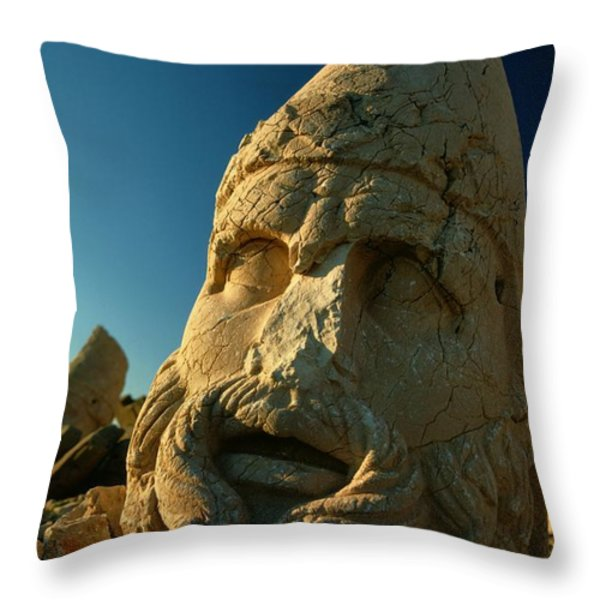 A Close View Of The Head Of The Greek Throw Pillow by Gordon Gahan