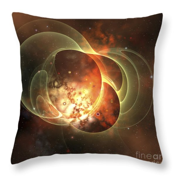 A Constellation Sits Inside Encircling Throw Pillow by Corey Ford