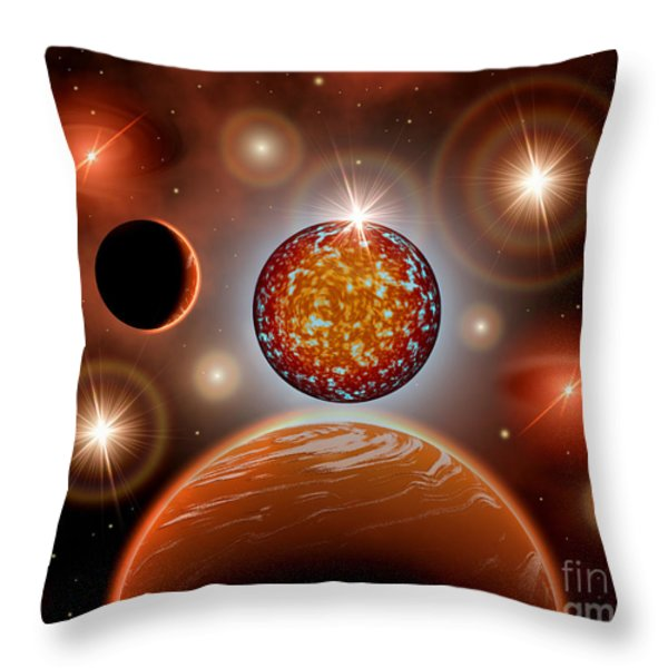 A Cosmic Place Within A Nebula Where Throw Pillow by Mark Stevenson