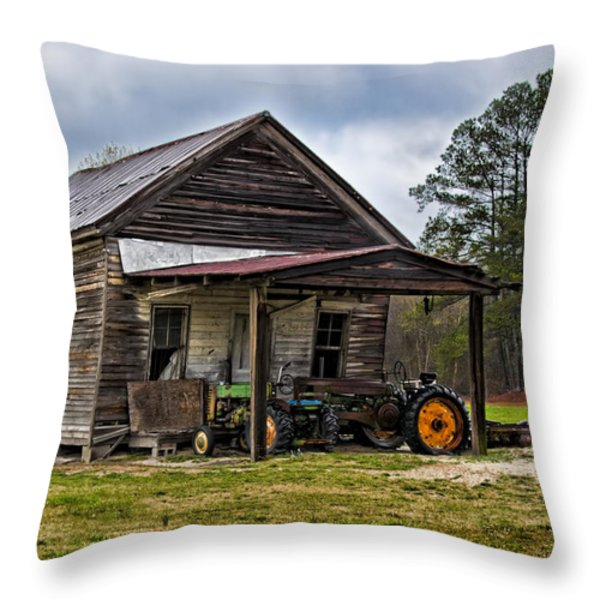 A Crooked Little Barn Throw Pillow by Christopher Holmes