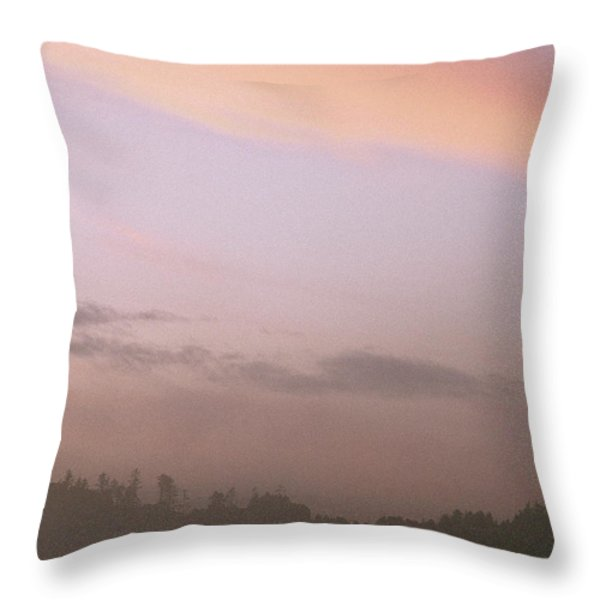 A Distant View Of People Walking Throw Pillow by Phil Schermeister
