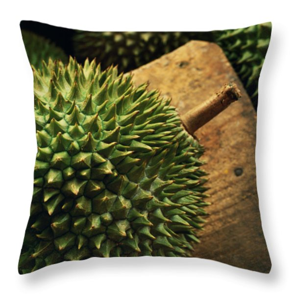 A Durian Fruit - Popular In South East Throw Pillow by Justin Guariglia
