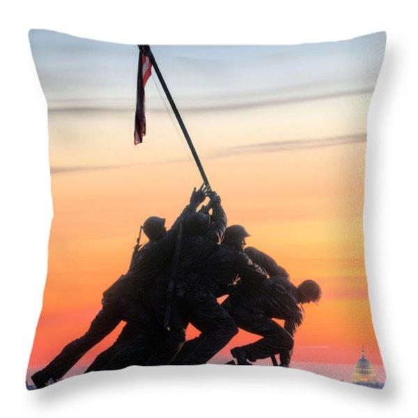 A Few Good Men Throw Pillow by JC Findley