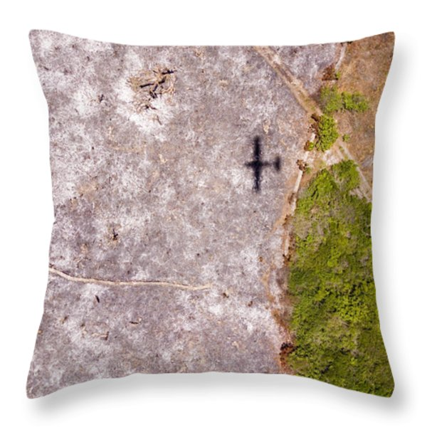 A Field Of Ashes, The Result Of Slash Throw Pillow by Michael Fay
