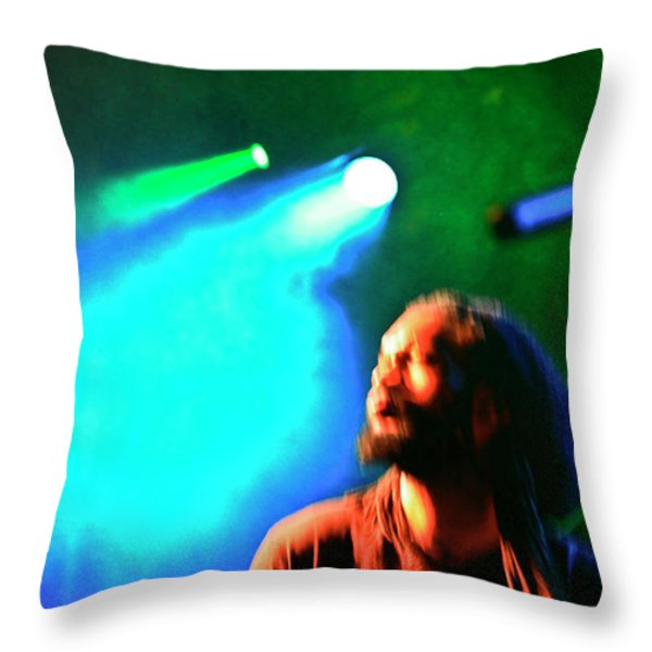 A Flobot in Song Throw Pillow by David Kehrli
