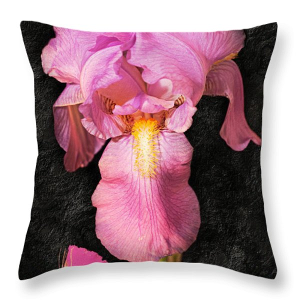 A Flora Is Natures Painting Throw Pillow by Andee Design
