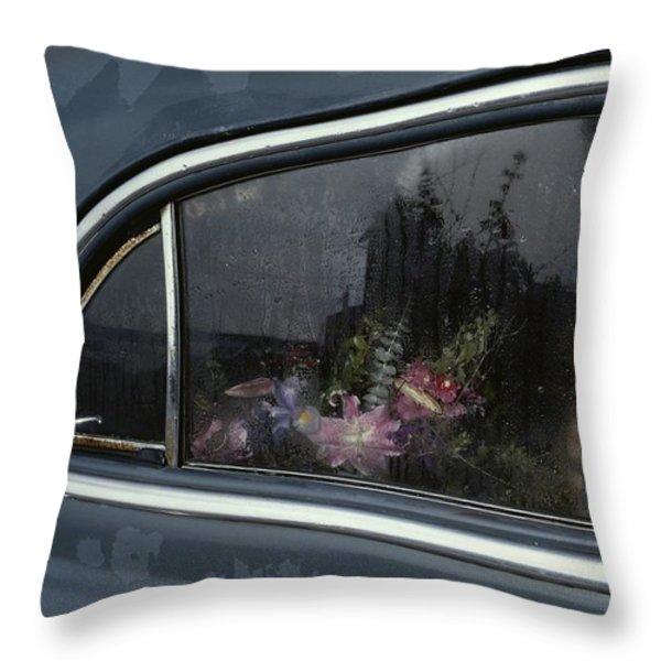 A Floral Arrangement Seen Throw Pillow by Sam Abell