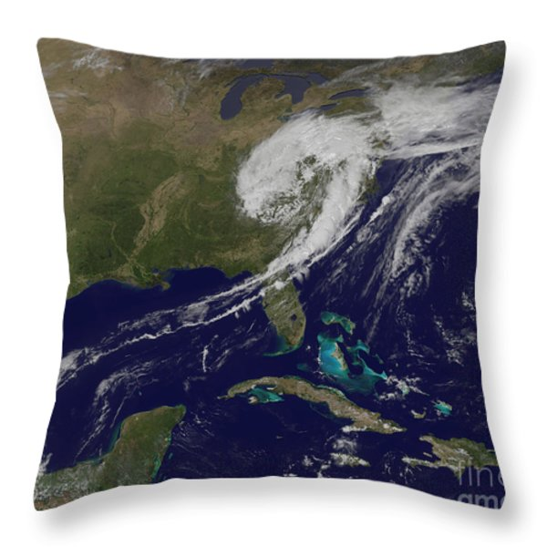 A Giant Swirl Of Clouds Throw Pillow by Stocktrek Images