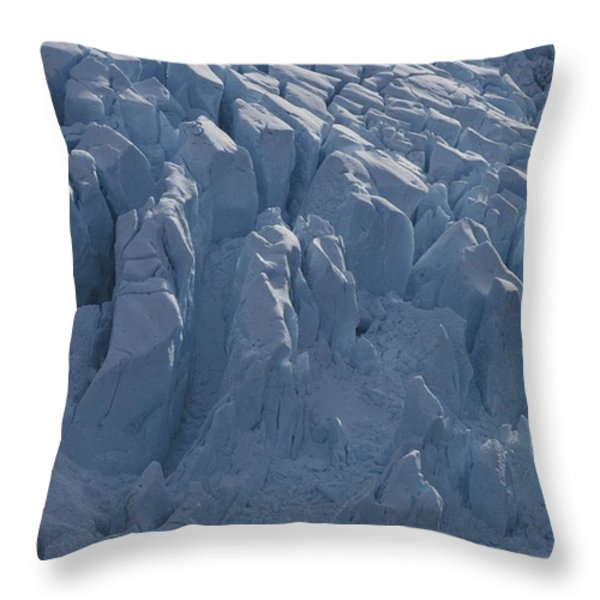 A Glacier Icefall From The Cordillera Throw Pillow by Gordon Wiltsie