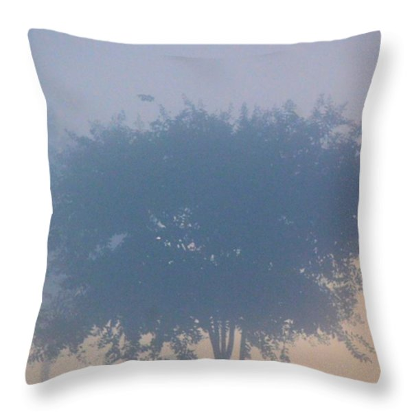A Gothic Silhouette Throw Pillow by Maria Urso