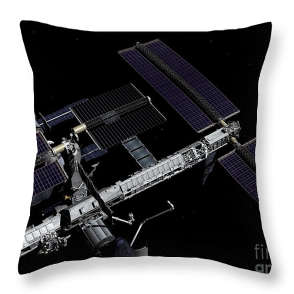 A Graphic Rendering Throw Pillow by Stocktrek Images