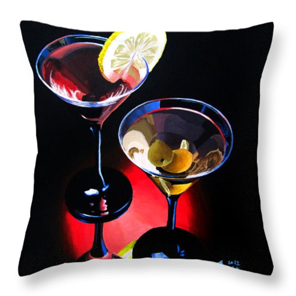 A Hint Of Lemon And Olives Throw Pillow by Kayleigh Semeniuk