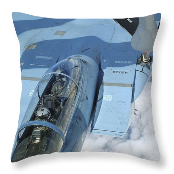 A Kc-135 Stratotanker Provides Throw Pillow by Stocktrek Images