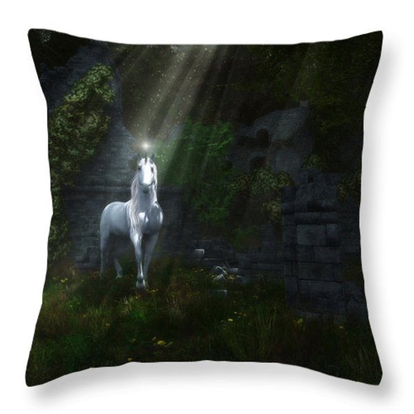 A Light In The Darkness Throw Pillow by Melissa Krauss
