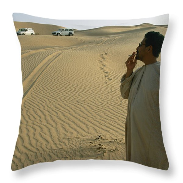 A Local Guide Muses That This Area Throw Pillow by Stephen Alvarez