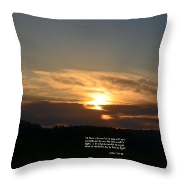 A Man Who Walks By Day Throw Pillow by Maria Urso