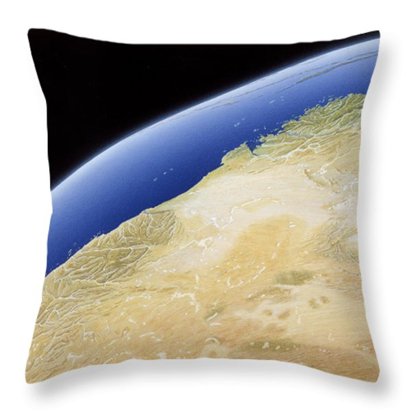 A Map Of Western Australia Throw Pillow by NG Maps