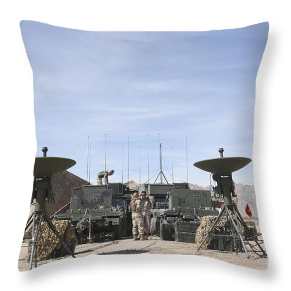 A Marine Unmanned Aerial Vehicle Throw Pillow by Stocktrek Images